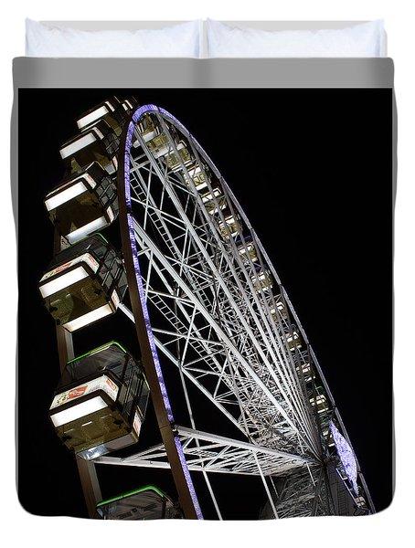 Ferris Wheel At Night 16x20 Duvet Cover