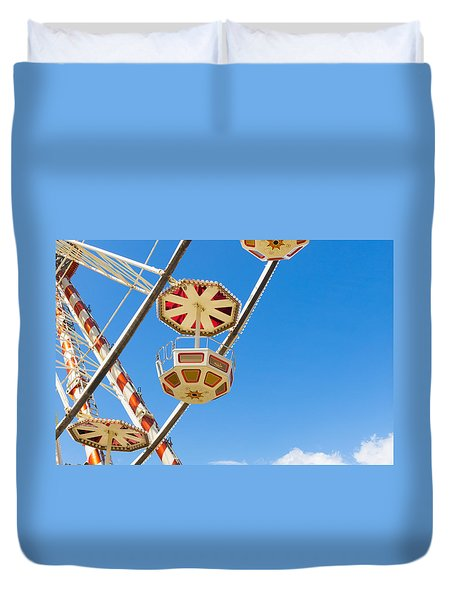 Duvet Cover featuring the photograph Ferris Wheel Cars In Toulouse by Semmick Photo