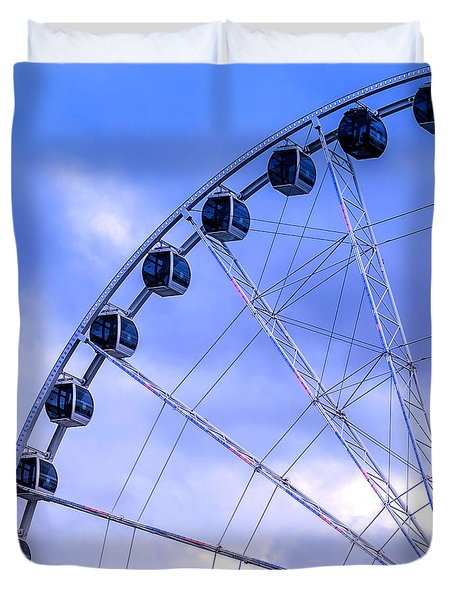 Ferris Wheel Duvet Cover by Cathy Donohoue