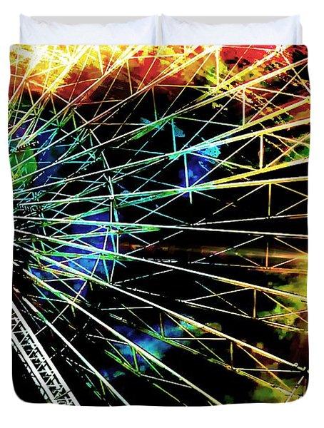 Ferris Wheel, Grand Roue Duvet Cover