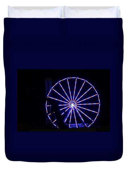 Ferris Wheel Duvet Cover by John Wartman