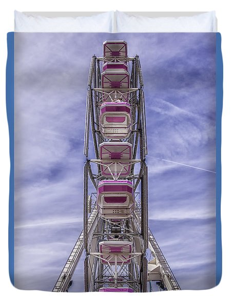 Ferris Wheel Symmetry Duvet Cover
