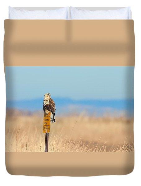 Ferruginous Hawk - Tule Lake California Duvet Cover