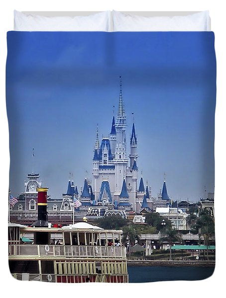Ferry Boat Magic Kingdom Walt Disney World Mp Duvet Cover
