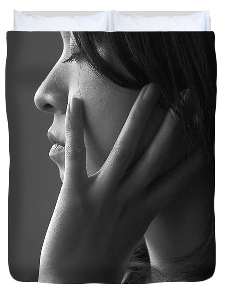 Ferry Girl Duvet Cover by Sheila Smart Fine Art Photography