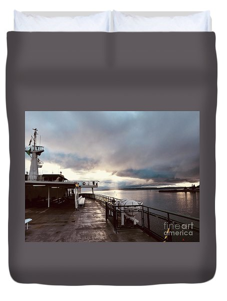 Ferry Morning Duvet Cover