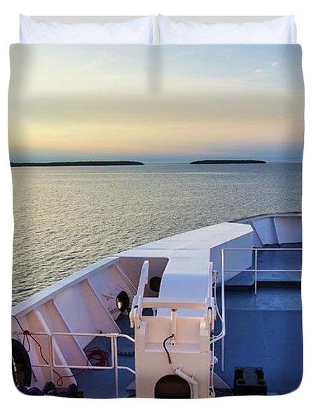 Ferry On Duvet Cover