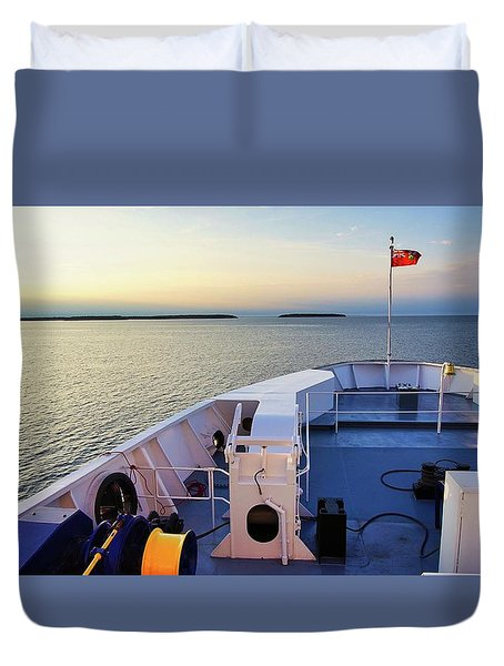 Ferry On Duvet Cover