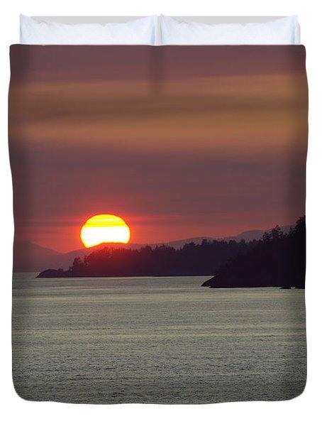 Ferry Sunset Duvet Cover