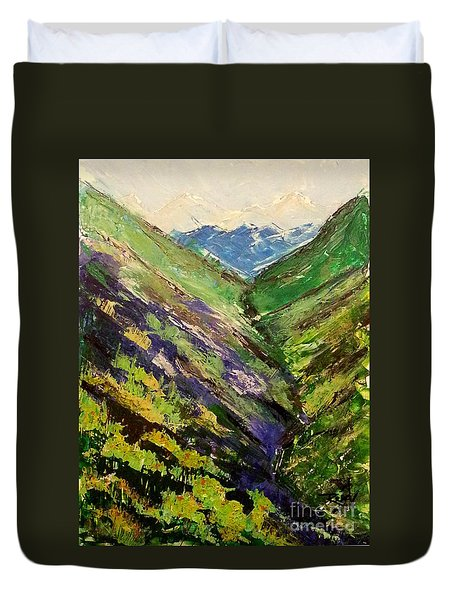 Fertile Valley Duvet Cover