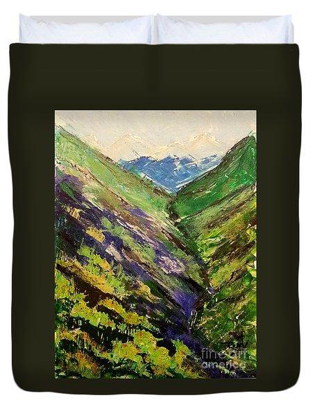 Fertile Valley Duvet Cover