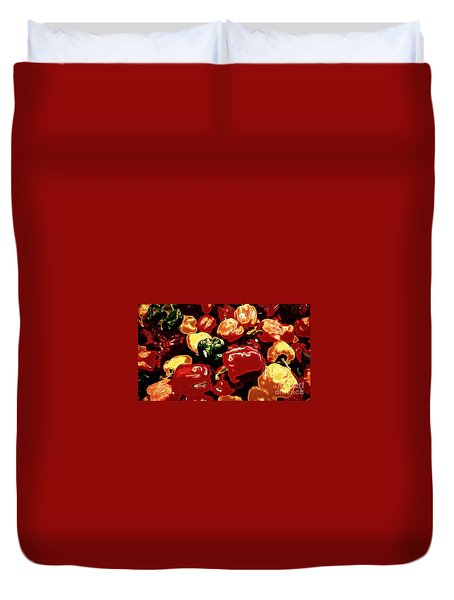 Festival Of Peppers Duvet Cover