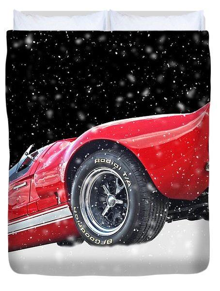 Festive Ford Gt40 Duvet Cover