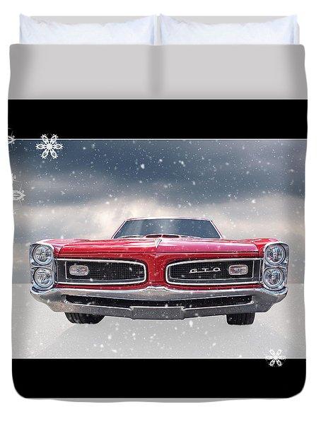 Festive Pontiac Gto Duvet Cover
