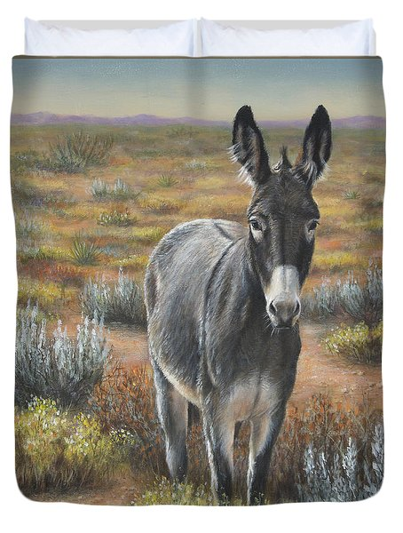 Duvet Cover featuring the painting Festus by Kim Lockman