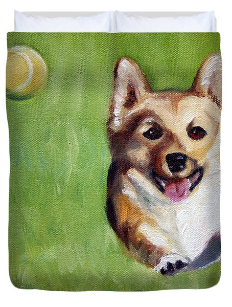 Fetch Duvet Cover by Mary Sparrow