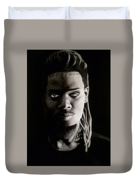 Fetty Wap Drawing Duvet Cover by Angelee Borrero