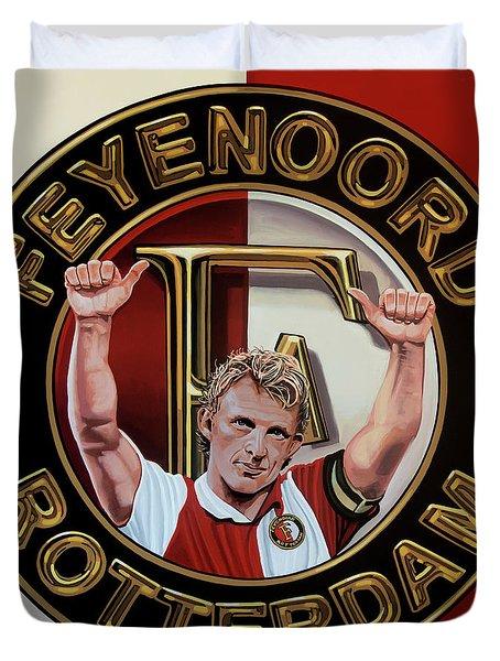 Feyenoord Rotterdam Painting Duvet Cover