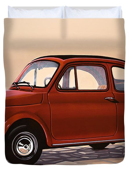 Fiat 500 1957 Painting Duvet Cover