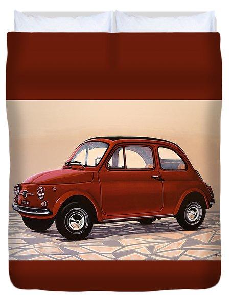 Fiat 500 1957 Painting Duvet Cover