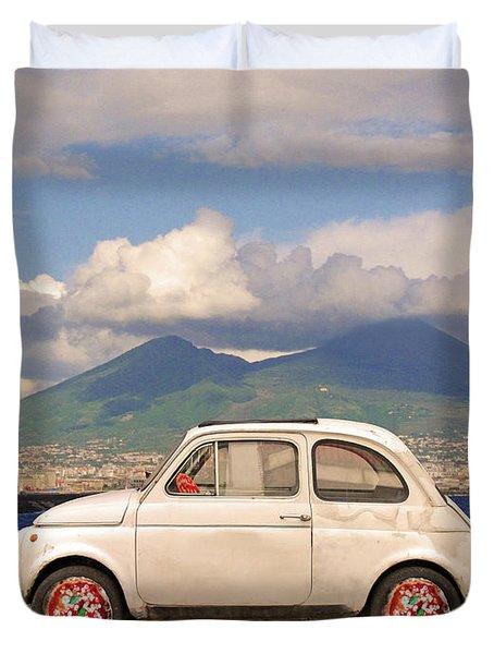 Fiat 500 Pizza Duvet Cover