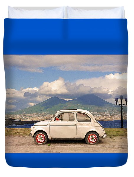 Fiat 500 Pizza Duvet Cover