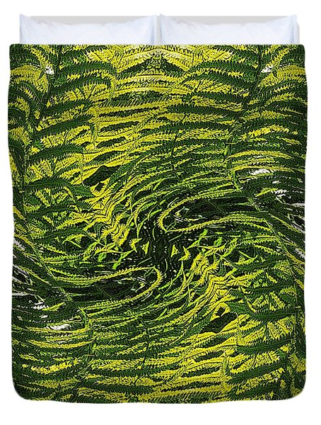 Fiddlehead Fern Wild Frenzy Duvet Cover
