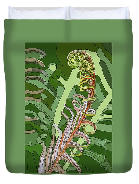 Fiddlehead Duvet Cover by Jamie Downs
