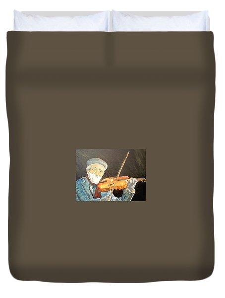 Fiddler Blue Duvet Cover by J Bauer