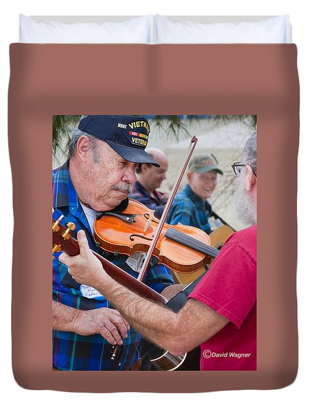 Fiddlers Contest Duvet Cover