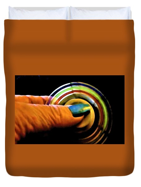 Duvet Cover featuring the photograph Fidgets by Denise Fulmer