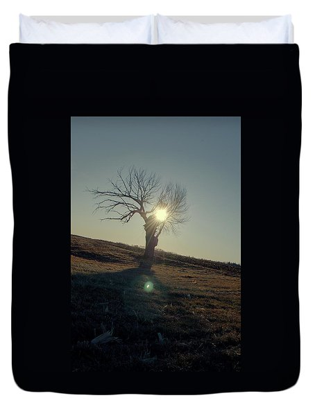 Field And Tree Duvet Cover