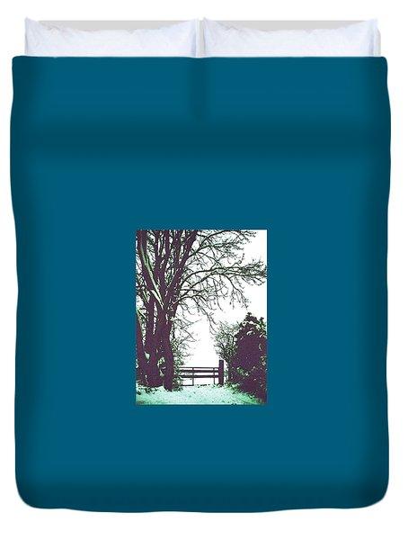 Field Gate Duvet Cover by Anne Kotan