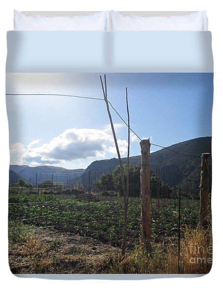 Field In Mecina Duvet Cover