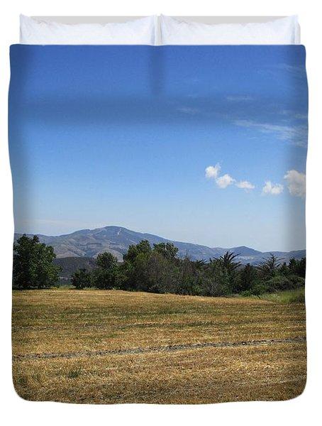 Field Near Capilerilla Duvet Cover