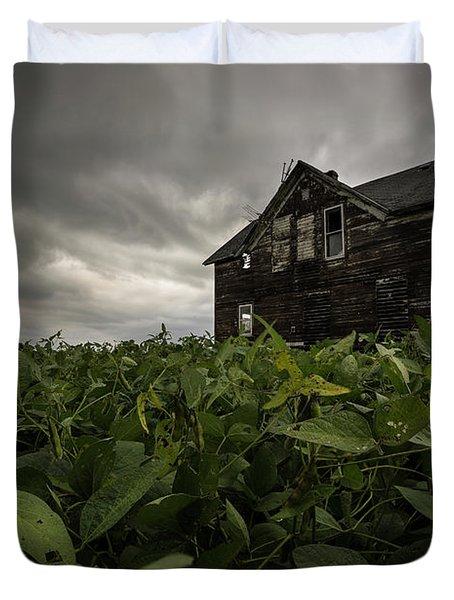 Field Of Beans/dreams Duvet Cover