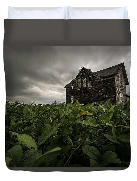 Duvet Cover featuring the photograph Field Of Beans/dreams by Aaron J Groen