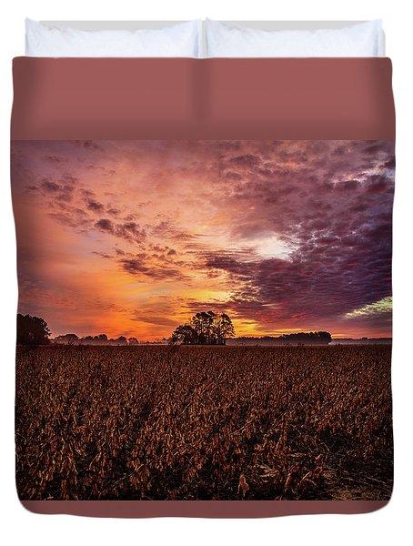 Field Of Beans Duvet Cover