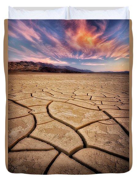 Field Of Cracks Duvet Cover by Nicki Frates