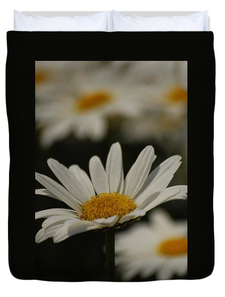 Duvet Cover featuring the photograph Field Of Daisies by Ramona Whiteaker
