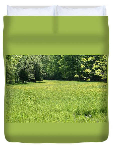 Field Of Dreams Duvet Cover by Heidi Poulin