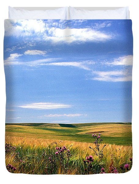 Field Of Dreams Duvet Cover by Kathy Yates