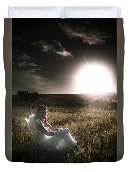 Duvet Cover featuring the photograph Field Of Dreams by Jorgo Photography - Wall Art Gallery
