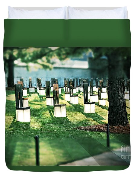 Field Of Empty Chairs Duvet Cover