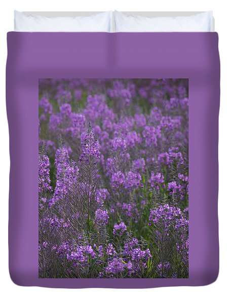 Field Of Fireweed Duvet Cover