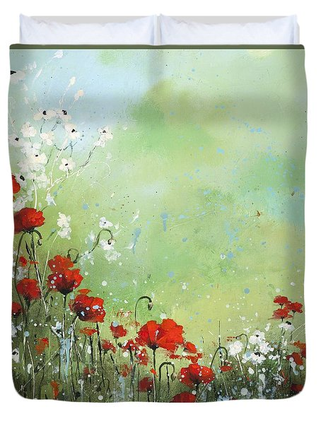 Field Of Imagination Duvet Cover by Laura Lee Zanghetti