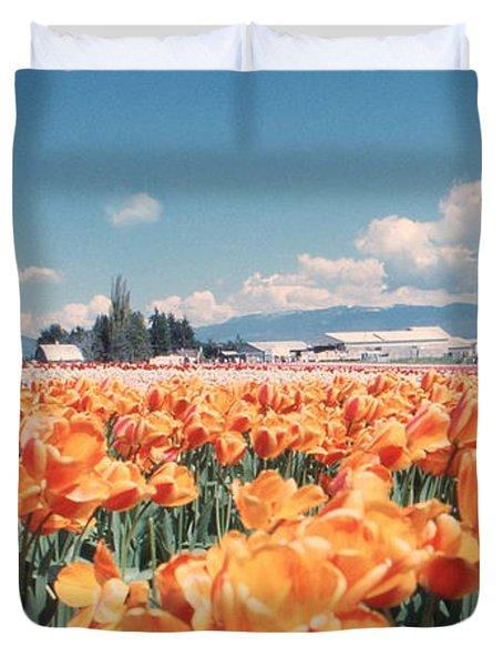 Field Of Orange Duvet Cover