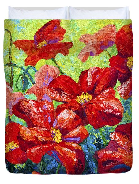 Field Of Red Poppies II Duvet Cover