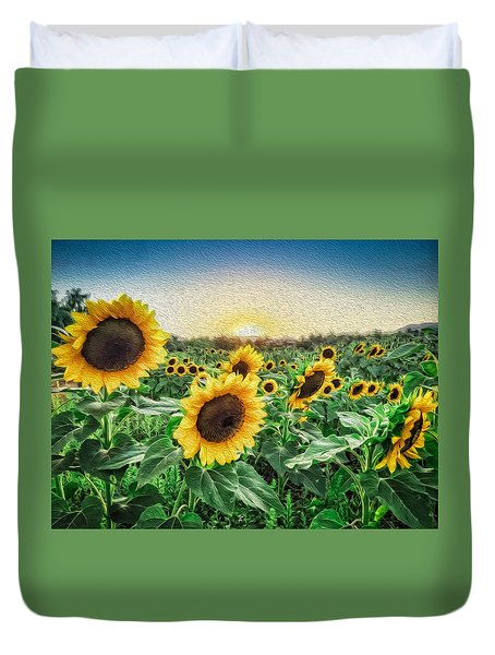 Field Of Sun Duvet Cover