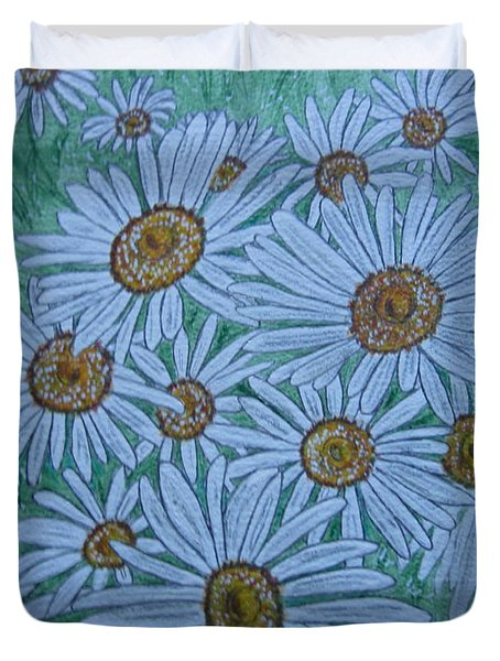 Field Of Wild Daisies Duvet Cover